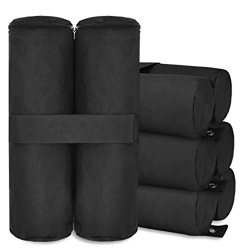 Canopy Weights, MaidMAX Canopy Weight Bags Sand Bag with Zippered Top for Instant Legs Pop Up Canopy Outdoor Sun Shelter Tents, 4-Pack