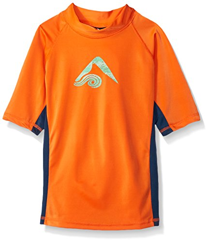 Kanu Surf Big Boys' Halo UPF 50+ Sun Protective Rashguard, Orange, Large (14/16) (Halo Suits For Kids)