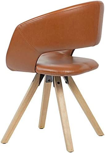 KS-Furniture Chaise de Cuisine rétro en Cuir synthétique avec Dossier Marron Charge maximale 110 kg
