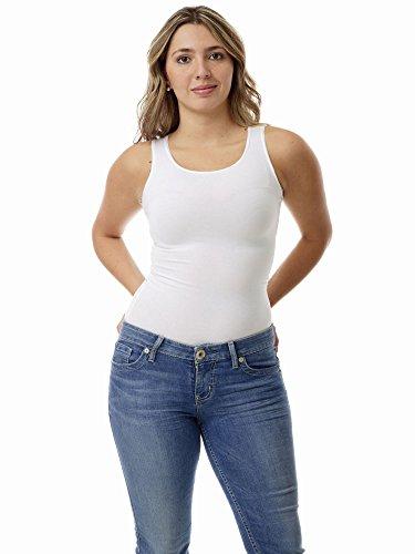 Underworks Women's Ultra Light Cotton Spandex Compression Tank, Large, White (Cold Gear Tank compare prices)