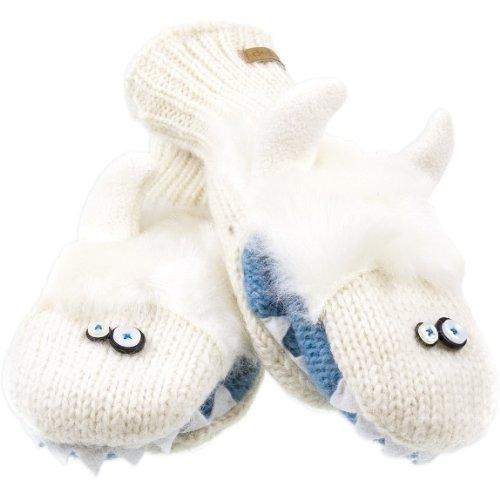 [Yuki The Yeti Mittens by Knitwits Youth Adult Size 7+ Year] (Adult Yuki The Yeti Hat)