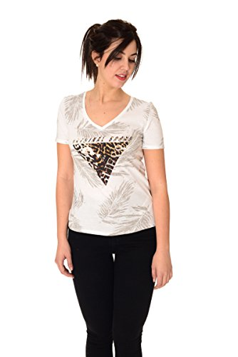 T shirt manica corta donna Guess stampa animalier