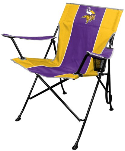 Gear Minnesota Vikings (Rawlings NFL Portable Folding Tailgate Chair with Cup Holder and Carrying Case)