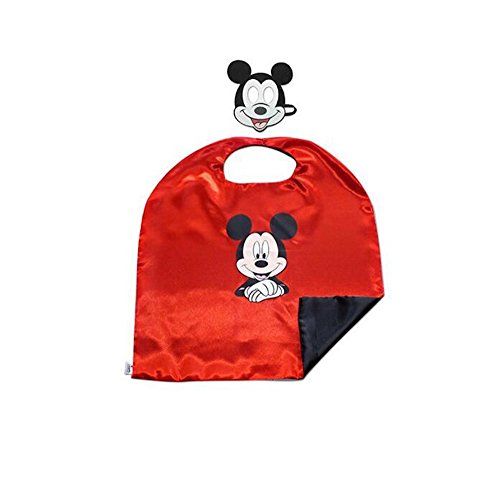 [Over 35+ Styles Superhero Halloween Party Cape and Mask Set for Kids (Mickey)] (Cheap Wolfman Costume)
