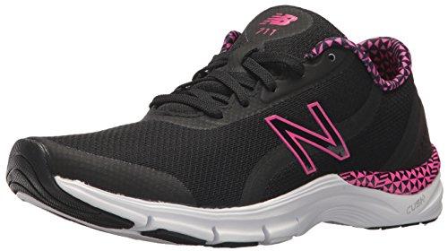 New Balance Women's 711v3 CUSH + Training Shoe, Black, 7.5 B US