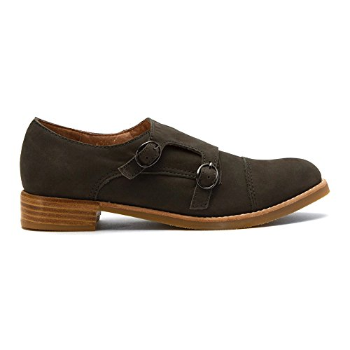 Alle Zwarte Dames Monnik Buck Instappers Schoenen Grijs