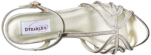 Sandal Gold Dress Dyeables Metallic Womens Lexi Inc aI6I8