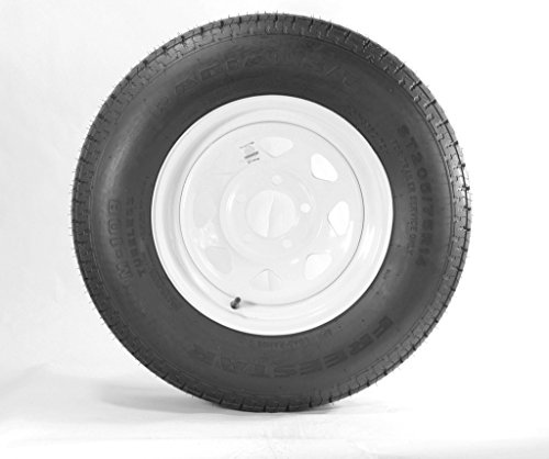 14-White-Spoke-Trailer-Wheel-with-Bias-ST20575D14-Tire-Mounted-5x45-bolt-circle