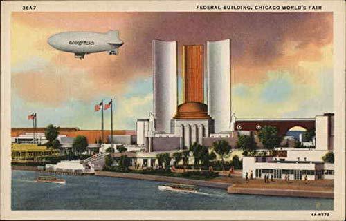 FEDERAL BUILDING, CHICAGO WORLD'S FAIR Chicago, Illinois IL Original Vintage Postcard