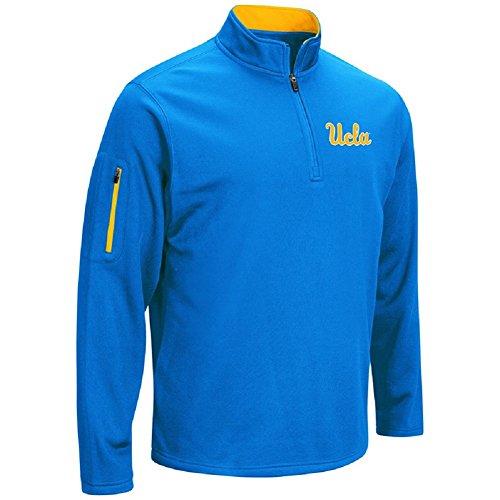 Basketball Bruins Ucla - Colosseum Men's VF Poly Fleece 1/4 Zip Pullover-UCLA Bruins-Blue-XXL
