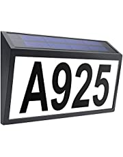 House Numbers, Solar Powered Address Plaque, LED Illuminated Plaque Lighted Up for House is Suitable for Outdoor Walls, Courtyards, Streets, etc