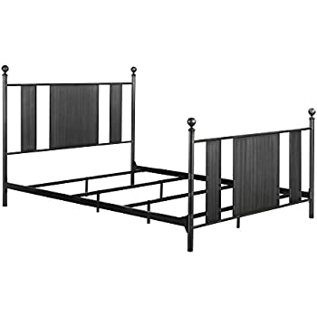 Amazon.com: DHP Athena Metal Bed Frame with Headboard and Footboard ...