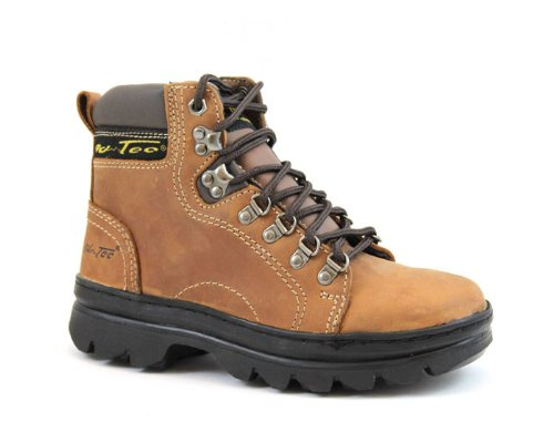 Adtec Womens 6'' Crazy Horse Leather Hiking/Work Boots Soft Toe Brown 2987 (5)