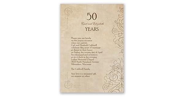Amazon.com: Antique Filigree - Anniversary Invitation ...