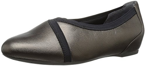 Rockport Women's Total Motion Envelope Flat, Misty Alloy Leather, 7.5 N (AA) - Rockport Women Casual Oxfords