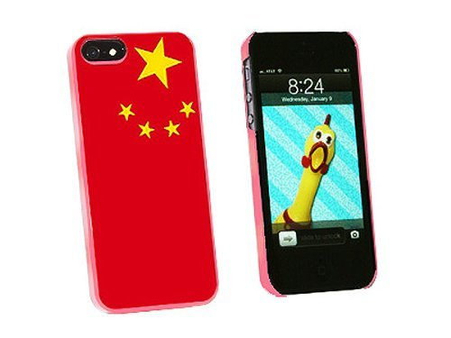 Graphics and More China Chinese Flag Snap-On Hard Protective Case for iPhone 5/5s - Non-Retail Packaging - Pink