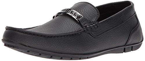 GUESS Men's Monroe Driving Style Loafer, Black, 11 Medium US