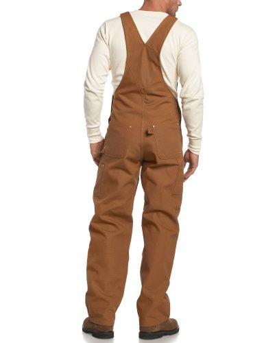 travail Carhartt Noir Bib de R01 L34 W38 Salopette Duck Workwear marron rFFTwqY1
