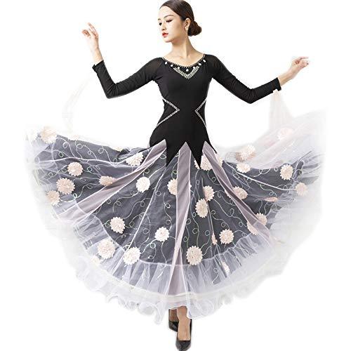 開店記念セール! garuda レディース社交ダンス衣装 B07PBQRT4W ダンス高級ドレス 発表会競技ワンピース 画面色,Large サイズオーダー対応 花柄 花柄 B07PBQRT4W 画面色,Large, ヤマト広場:fba6327d --- a0267596.xsph.ru