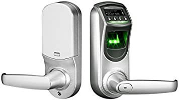 ZKTeco Fingerprint Biometric Door Lock Keyless Smart Locks with Visual Menu Display Support Unlocking Records Tracking &...