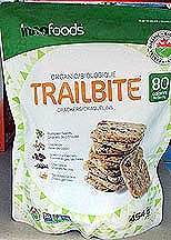 - Innofoods Organic Trailbite Crackers with Pumpkin Seeds, Cashews, Dried Cranberries, Chia Seeds, and Sprouted Grains, 454g {Imported from Canada}