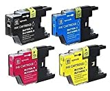 brother 430 - Ink Now Premium Compatible Combo Pack (all colors) for Brother Ink Jets LC75BK,LC75C,LC75M,LC75Y for MFC J430, 430W, 6510, 6710, 6910 - High Yield printers