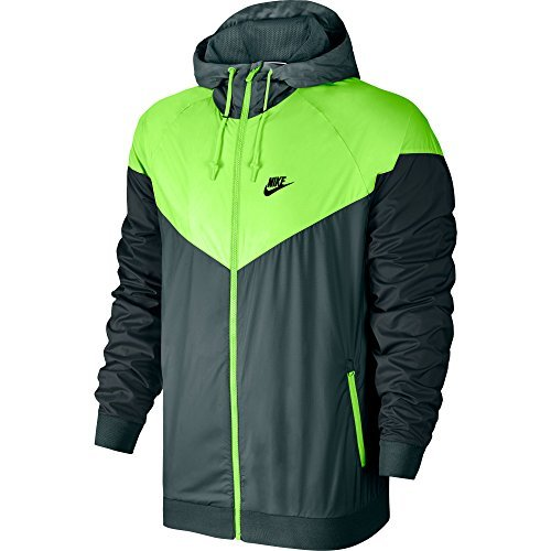 NIKE Mens Windrunner Hooded Track Jacket Hasta/Ghost Green/Seaweed 727324-393 Size Small by NIKE
