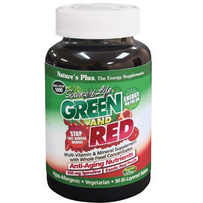 Source Of Life Green And Red Nature's Plus 90 (Life Red Multivitamin)