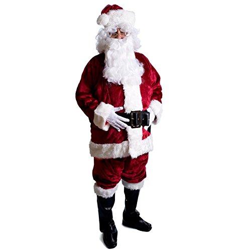 Rubie's Adult Crimson Regency Plush Santa Suit With Gloves , X-Large