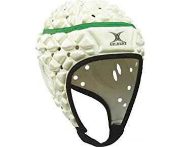 GILBERT Xact Casco de Rugby Junior, Blanco, Junior S