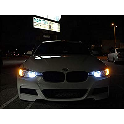 iJDMTOY (2) 6K Xenon White 42-SMD PW24W 12182 LED Bulbs Compatible With BMW F30 3 Series Halogen Headlamp Daytime Running Lights: Automotive