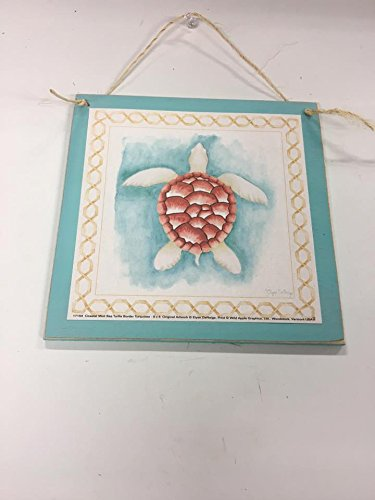 Amazon.com: Coral Sea Turtle Beach House Wooden Wall Art Sign ...