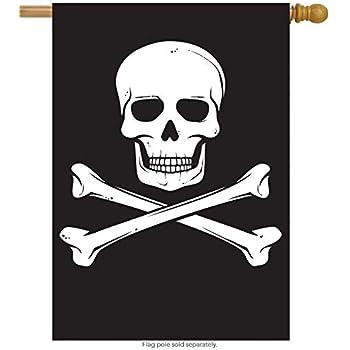 ShineSnow Biker Pirate Jolly Roger Skull House Flag 28