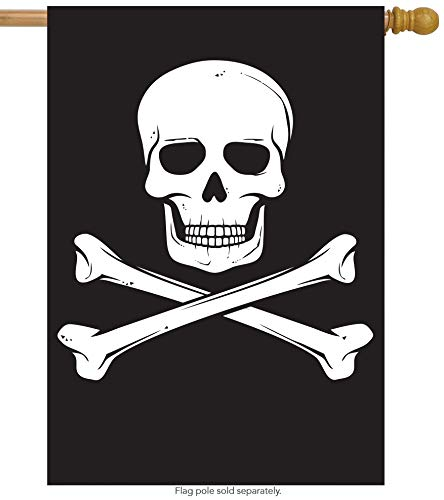 (ShineSnow Biker Pirate Jolly Roger Skull House Flag 28