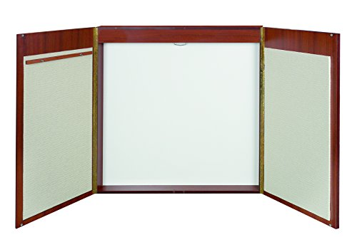 - MasterVision 4-in-1 Conference Cabinet with Dry Erase Surface, Projection Screen, Bulletin Boards & Easel Pad Holder, 4' x 4', Cherry (CAB00000011)