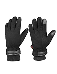 Cold Winter Gloves With Suede Leather Warm Protection Thermal Insulation Cold Resistance -30℉ Large