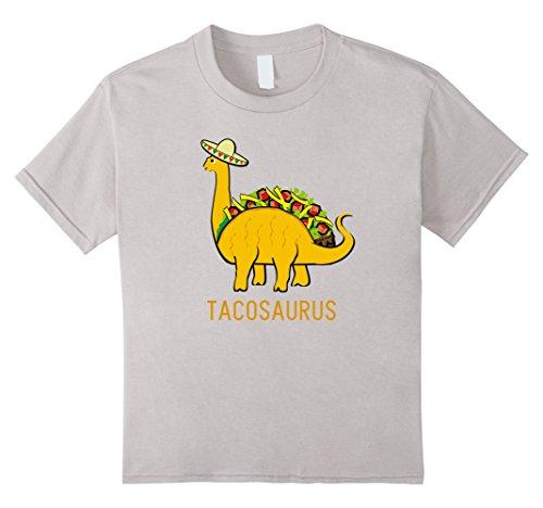 [unisex-child Tacosaurus Cinco de Mayo Shirt Women Boys Girls Funny Taco 6 Silver] (Pun Costumes For Guys)