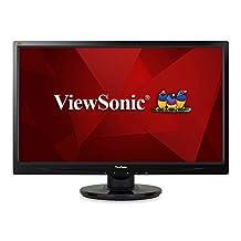"""ViewSonic VA2446M-LED 24"""" 1080p LED Monitor DVI, VGA"""