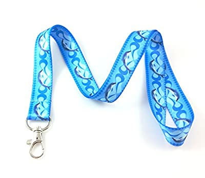 Ocean Life Lanyard Key Chain Id Badge Holder