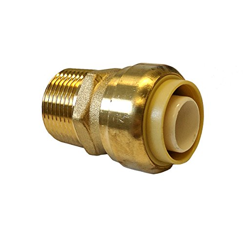 1' Npt Thread (Libra Supply Lead Free 1 inch Push-Fit Male Adapter, Push to Connect, Push x MIP(Click in for more size options), 1'', 1-inch Brass Pipe Fitting Plumbing Supply)