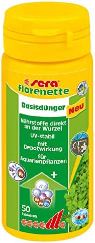 sera 03330 Florenette - Abono básico con depósito de nutrientes para Plantas acuáticas predominantemente arraigadas en el Acuario.