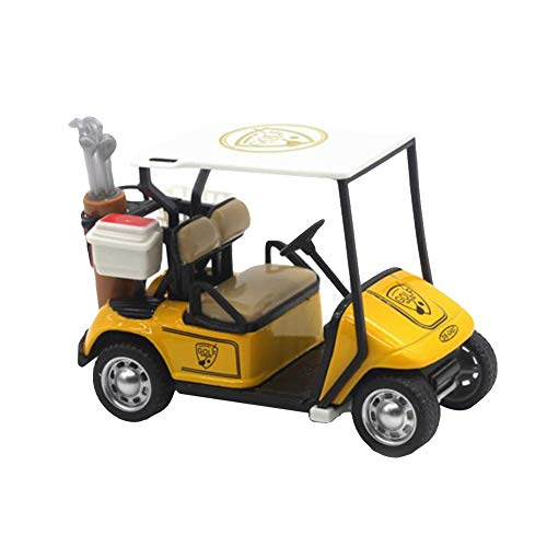 quysvnvqt Baby Toys 1:36 Scale High Simulation Golf Cart Model Children Pull Back Toy Collection - Yellow