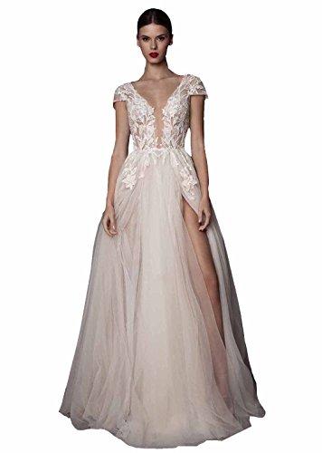 capped wedding dress - 6