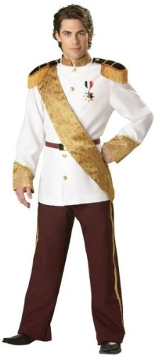Men'S Costume: Prince Charming Large *** Product Description: Military Style Jacket With Attached Epaulets, Slacks, Jacquard Sash, Military Belt And Medal. Large Fits Chest 42-44 And Waist 36-38. ***