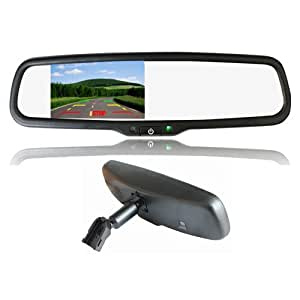 car interior replacement rear view mirror built in 4 3 tft lcd monitor bracket. Black Bedroom Furniture Sets. Home Design Ideas