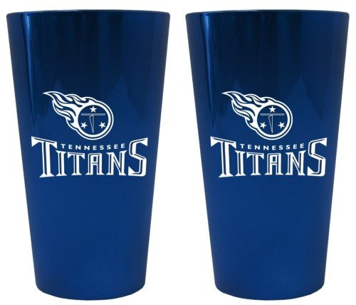 (Boelter Brands Tennessee Titans Lusterware Pint Glass - Set of 2)