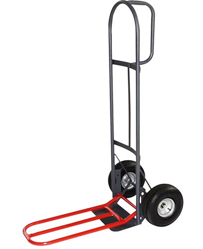 Milwaukee Hand Trucks 49515 D-Handle Truck with 10-Inch Pneumatic Tires and Nose Plate Extension