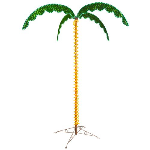 LED Deluxe Rope Light Palm Tree - Green - 7' Deluxe LED Lighted Palm Tree by Wintergreen Lighting (Image #1)