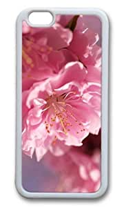 MOKSHOP Adorable blossom Soft Case Protective Shell Cell Phone Cover For Apple Iphone 6 Plus (5.5 Inch) - TPU White
