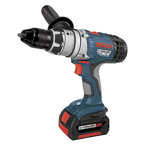 Factory-Reconditioned Bosch 17618-01-RT 18-Volt 1/2-Inch Brute Tough Litheon Hammer Drill/Driver with 2 Fat Batteries